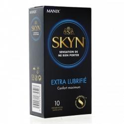 PRESERVATIF SKYN EXTRA LUB - BOITE DE 10 (SANS LATEX) - MANIX