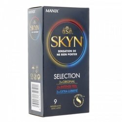 PRÉSERVATIF SKYN SELECTION- BOÎTE DE 9 PRÉSERVATIFS - MANIX