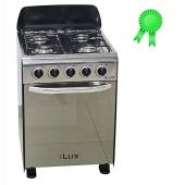 Ilux Cuisinière 4 Feux LX-20SS - Hauteur 60cm - Inox - Garantie 6 Mois