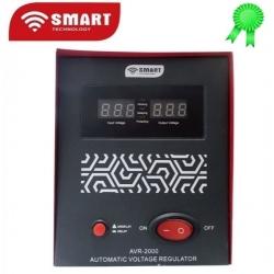 SMART TECHNOLOGY Stabilisateur AVR-2000 - 2000 Va - Rouge - 1 Mois De Garantie