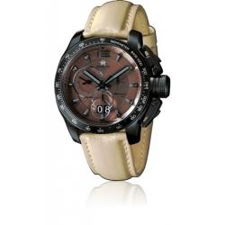 METAL CH Montre Acier noir bracelet en Cuir 7539.44