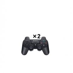 Sony 2 Manettes PS3 Sans Fil - DUALSHOCK 3 - Noir
