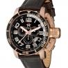 METAL CH Montre Acier couleur or rose bracelet Cuir Croco 3340.44