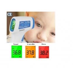 Thermomètre Frontal Infrarouge numérique sans Contact - lectures instantanées précises