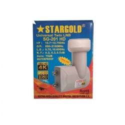 Stargold LNB 2 Sorties - SG-201 Hd - Sortie Ultra HD/4K - Blanc