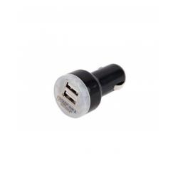 Chargeur Rapide De Voiture Double Sorties USB Compatible Tablette/Mobile - Noir/Blanc