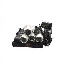 AHD Kit De 4 Camera FOSVISION - Professionnal Network Solution - Blanc