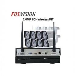 Wifi NVR KIT 8CH 720 P HD Sans Fil IP Caméra NVR Système De Sécurité CCTV WIFI IP