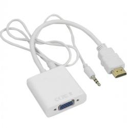 Câble Adaptateur HDMI à VGA Avec Prise En Charge Du Câble Audio Résolution HDCP 1080-Blanc