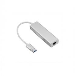 Adaptateur Réseau Ethernet RJ45 /USB 2.0 PORT USB - Argent