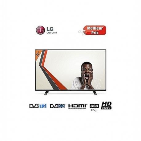 LG TV LED- 32 POUCES - Décodeur Intégré-HD - 1xHDMI /1xUSB - Noir/Gris
