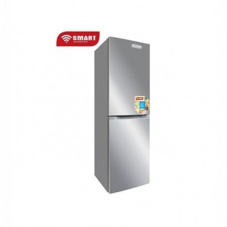SMART TECHNOLOGY Réfrigérateur Combiné - STCB-398S - 4 Tiroirs - 270Litres - Gris - Garantie 12 Mois