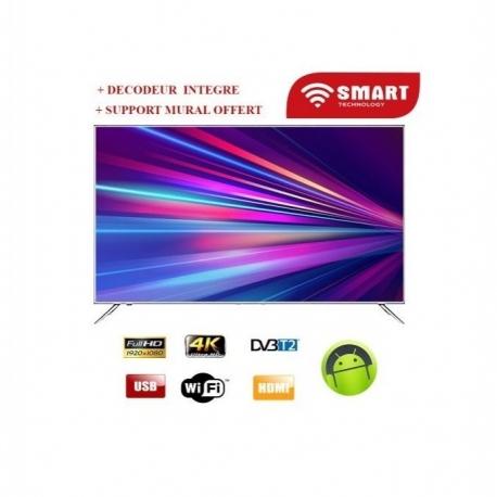 SMART TECHNOLOGY SMART TV 65 Ultra HD 4K - STT-5065S - Noir - Garantie 3 Mois