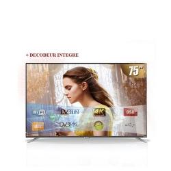 SMART TV LED- 75 Pouces - STT-9075S Ultra HD 4K Avec Wifi- - Noir - Garantie 12 Mois