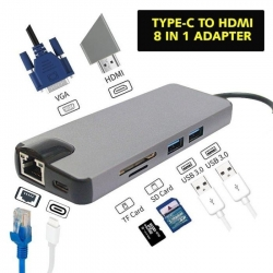 Adaptateur Type C to HDMI 8 in 1