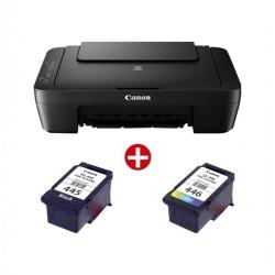 BUNDLE CANON Imprimante Multifonction – PIXMA MG2540S + Cartouche d'encre – PIXMA – PG-445 – Noir & CL-446 – Couleur