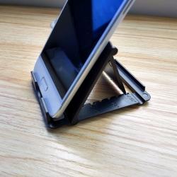Support pliable de telephone portable et tablette compact - Noir