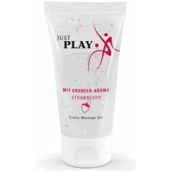 Gel de Massage Fraise Just Play - 50 ml