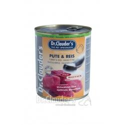 DR.CLAUDER'S Selected Meat Pute&Reis - viande turque et riz sélectionnées - 800G
