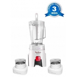 MIXEUR MOULINEX GENUINE BLENDER BLANC - 1 100W - MULTIFONCTION