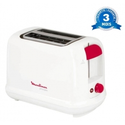 GRILLE PAIN TOASTER MOULINEX PRINCIPIO - 850 W - BLANC ROUGE
