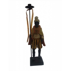 STATUETTE BOUGEOIR DECO AFRICAINE 44CM