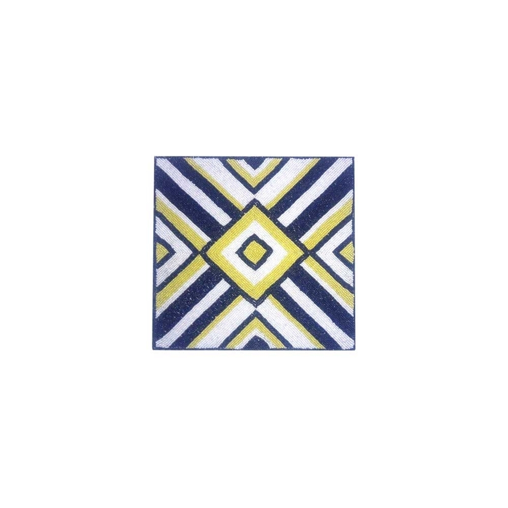 Set De Table Bleu Jaune Blanc 34 X 34 Cm Afrikdiscount
