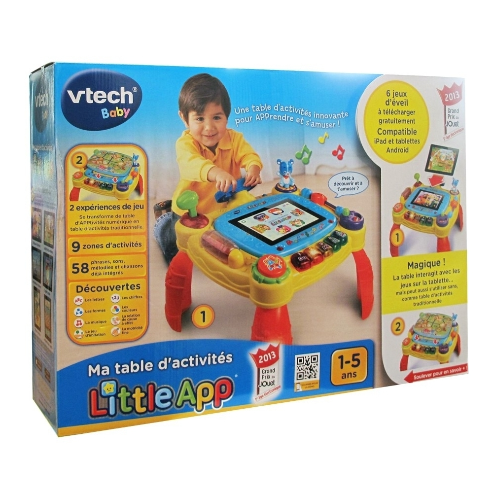 jouets enfants vtech ma table d 39 activite little app 1 5ans ca2 ref. Black Bedroom Furniture Sets. Home Design Ideas