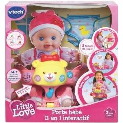 VTECH PORTE BEBE 3 EN 1 INTERACTIF LITTLE LOVE+3 ANS CA2 REF 80-170405