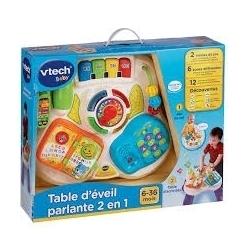 VTECH TABLE D'EVEIL PARLANTE 2 EN 1 6-36 MOIS CA3 REF 8-148005