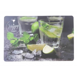 SET DE TABLE HAPPY HOUR - PVC - 42 x 30 CM