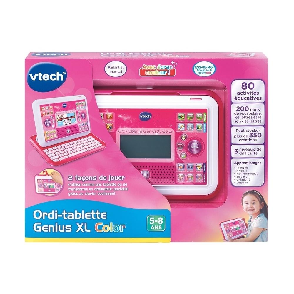 Jouets Enfants Ordinateur Tablette Genius Xl Color 5 8 Ans Rose Ca