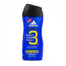 GEL DOUCHE ADIDAS 250 ML 3 EN 1 SPORT ENERGY