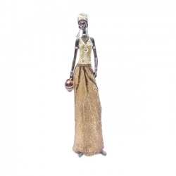 STATUETTE FEMME AFRICAINE 19,5''