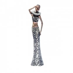 STATUETTE FEMME AFRICAINE 15''