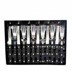 COUVERT A STEAK SET DE 12 PIECES