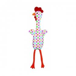 Chicken pour chien- poulet coloré - Plüsch-Spielzeug