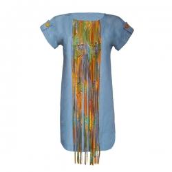 YALLERI - Robe NIRY 4 - Taille 38 - Jean Bleu