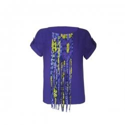 YALERRI - Blouse NIRY 14 - Taille 38 - Bleu / Violet