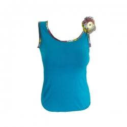 YALERRI - Débardeur ADISSA-PRIDE B - Taille 2 - Bleu turquoise