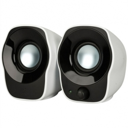 Logitech Haut Parleur Stéréo - z120 Speaker - Haut-parleurs 2.0 1.2 Watts - Noir/Blanc