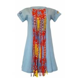YALERRI - Robe NIRY 4 - Taille 36 - Jean Bleu ciel