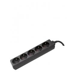 Multiprise OMEGA- 5 ports - Noir