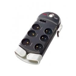 Multiprise APC Parafoudre 6 ports - Noir/Blanc