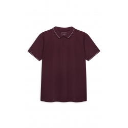 POLO CEDAR WOOD STATE - TAILLE M- BORDEAUX