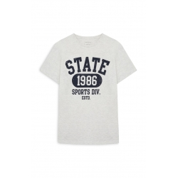 T-SHIRT CEDAR WOOD STATE - STATE 1986-TAILLE XL- WHITE