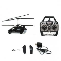 HELICOPTERE RADIOCOMMANDE AIR FORCE K-027 - CA6 -19.5 X 14 X 17 cm - NOIR - REF JAA5366