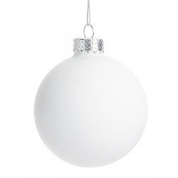 BOULE DE NOEL 6CM SET DE 6PIECES BLANC CA60 REF CAN100440