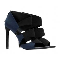 Sandales à talons bi-colores Zara