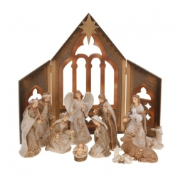 d coration creche de noel 11 santons en porcelaine art. Black Bedroom Furniture Sets. Home Design Ideas
